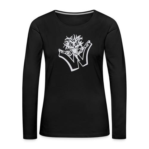 w wahnsinn - Vrouwen Premium shirt met lange mouwen