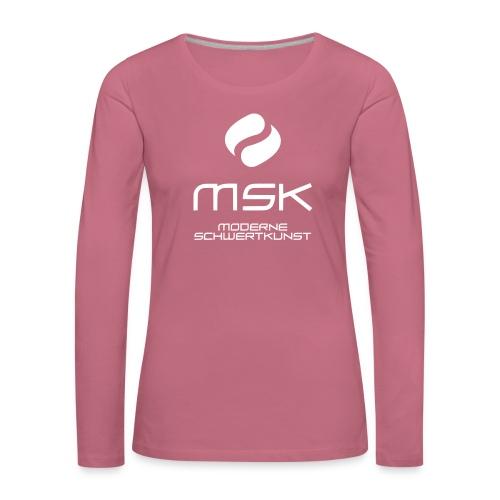 Logo_mit_schrift_2zeilig_ - Frauen Premium Langarmshirt
