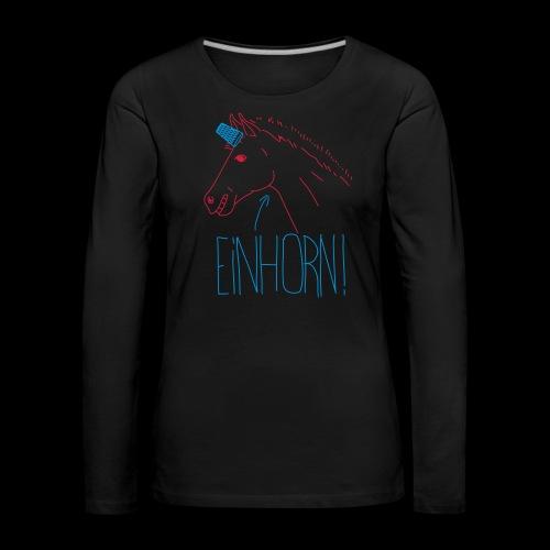 Einhorn - Frauen Premium Langarmshirt