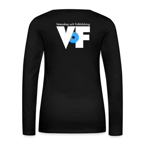 vof text vit png - Långärmad premium-T-shirt dam