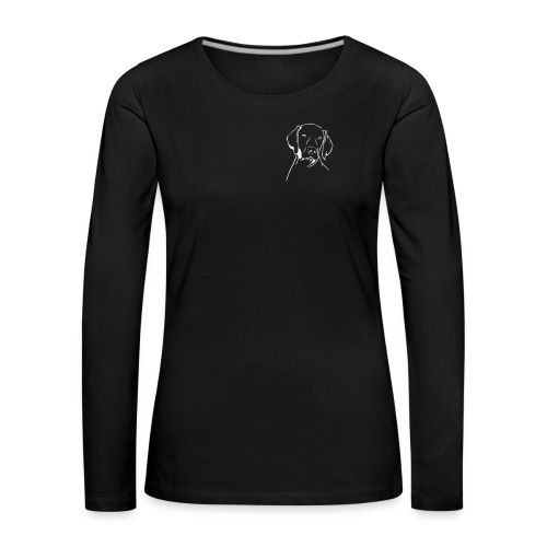 pro-canalba-logo-claim - Frauen Premium Langarmshirt