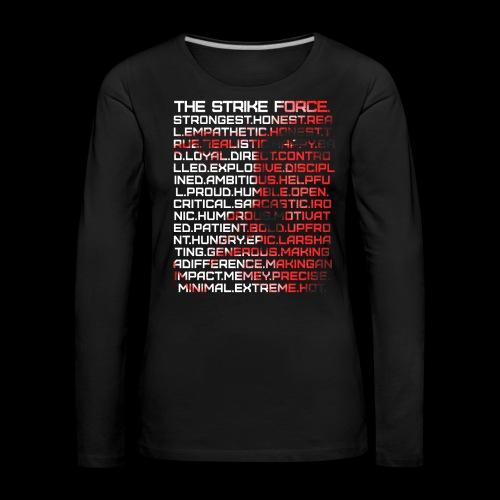 List Design - Women's Premium Longsleeve Shirt