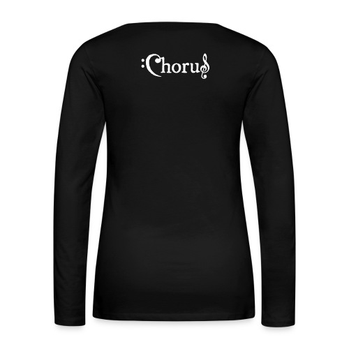 Chorus Kör Logo Vit EPS - Långärmad premium-T-shirt dam