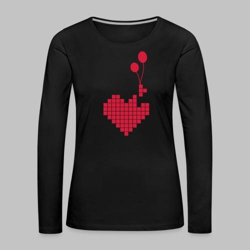 heart and balloons - Women's Premium Longsleeve Shirt