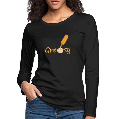 SaucyHoodies - Långärmad premium-T-shirt dam