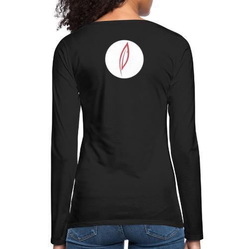 Logo - Rond blanc (dos) - T-shirt manches longues Premium Femme