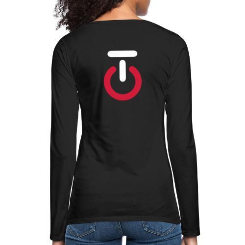 Logo lille v5 - Dame premium T-shirt med lange ærmer