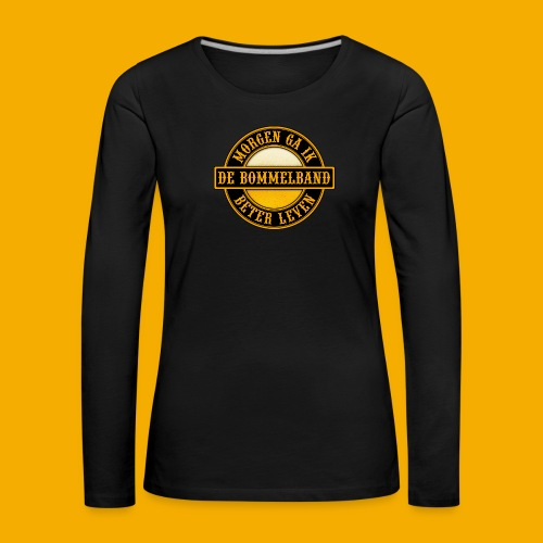 Logo Zwart Geel 2 - Vrouwen Premium shirt met lange mouwen