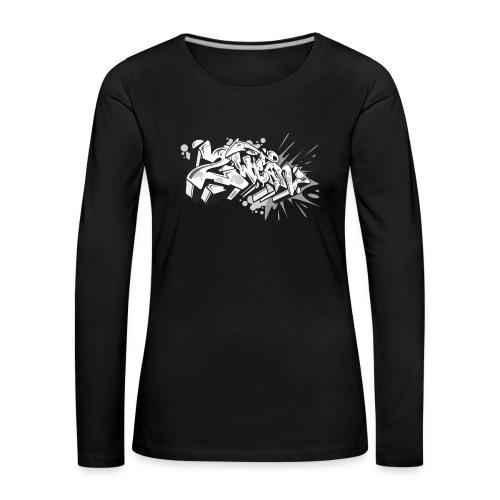 graffiti 2Wear dae120 2tone - Dame premium T-shirt med lange ærmer