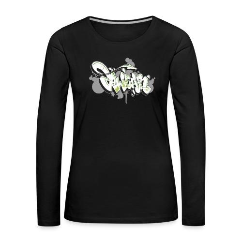 Mesk 2Wear graffiti style 7up ver02 - Dame premium T-shirt med lange ærmer