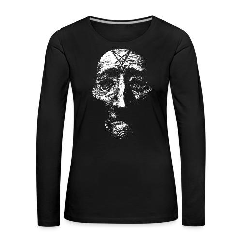 sigilhuvudgubbehalsband png - Långärmad premium-T-shirt dam