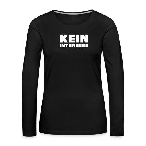 KWICK! Logo kontur - Frauen Premium Langarmshirt