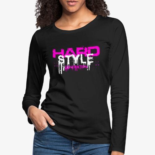harder'z girls power Manches longues - T-shirt manches longues Premium Femme