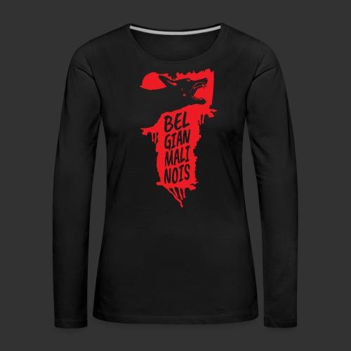 Belgian Malinois HEAD - Naisten premium pitkähihainen t-paita