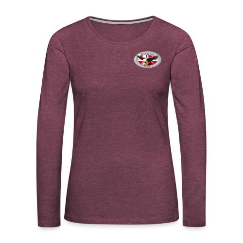 SR logo png - Dame premium T-shirt med lange ærmer