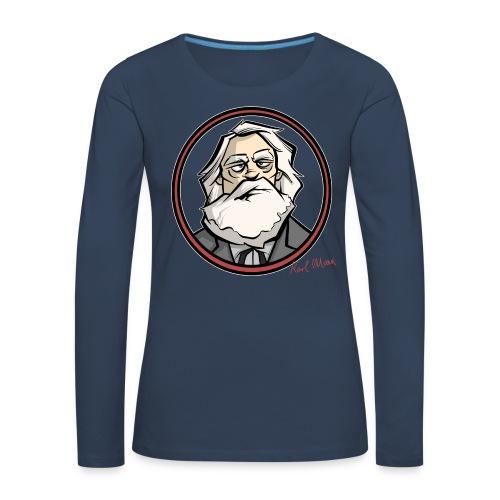 Karl Marx - Frauen Premium Langarmshirt