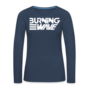 Burning Wave Block - T-shirt manches longues Premium Femme