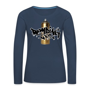 Golden Spray Can Bombing Tool - Frauen Premium Langarmshirt