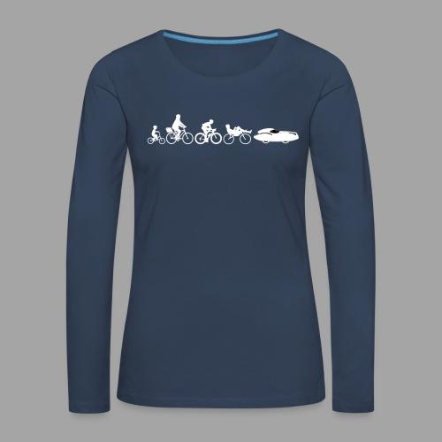 Bicycle evolution white Quattrovelo - Naisten premium pitkähihainen t-paita