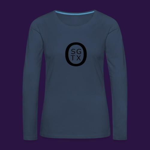 Logo Noir - T-shirt manches longues Premium Femme