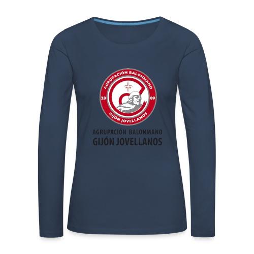 Escudo vertical básico - Camiseta de manga larga premium mujer
