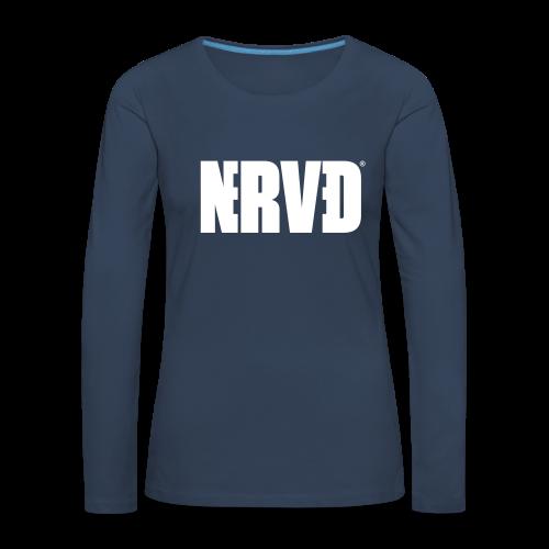 Official Nerved@ White Logotype - Women's Premium Longsleeve Shirt