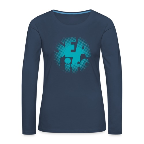Sealife surfing tees, clothes and gifts FP24R01A - Naisten premium pitkähihainen t-paita