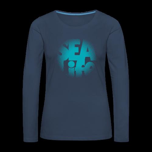 Sealife surfing tees, clothes and gifts FP24R01A - Naisten premium pitkähihainen t-paita