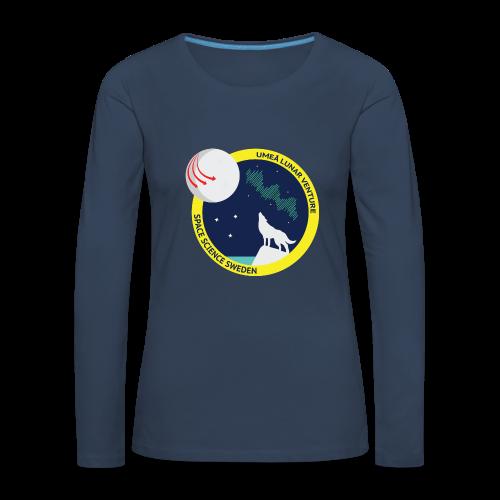 ULV - Umeå Lunar Venture - Långärmad premium-T-shirt dam