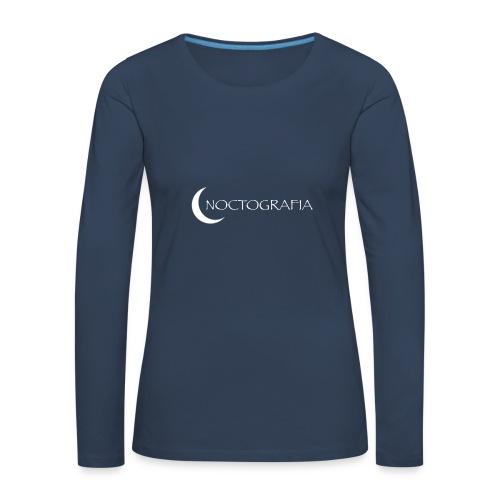 Noctografia - Camiseta de manga larga premium mujer