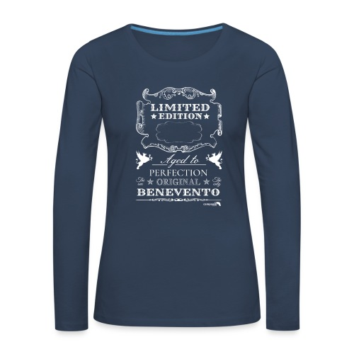 1.01 Invecchiato per Perf. BN B (Inserisci anno al centro) - Maglietta Premium a manica lunga da donna