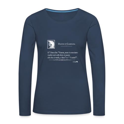 1,06 Dante Vuolsi Cosi Bianco - Maglietta Premium a manica lunga da donna