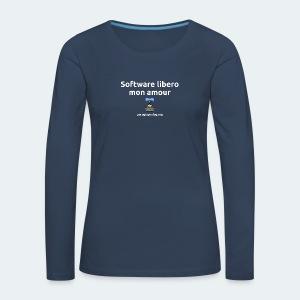 Software libero mon amour - Maglietta Premium a manica lunga da donna
