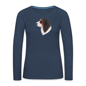 bassethound color - Dame premium T-shirt med lange ærmer
