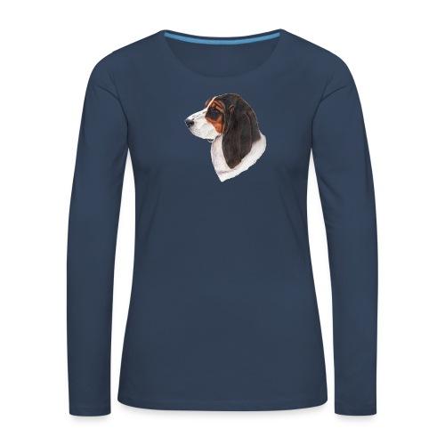 bassethound color - Dame premium T-shirt med lange ærmer