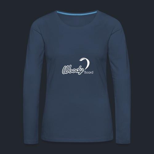 Logo Woodyboard Blanc - T-shirt manches longues Premium Femme