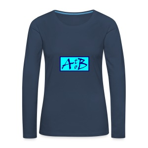 AtoB Logo light blue - Women's Premium Longsleeve Shirt
