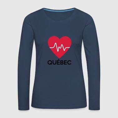 coeur Québec - T-shirt manches longues Premium Femme