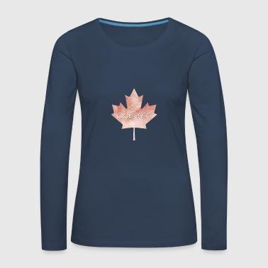 Maple Leaf Québec - T-shirt manches longues Premium Femme