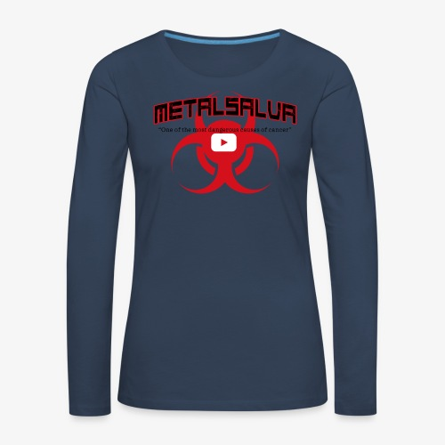 METALSALVA Cancer #1 - Maglietta Premium a manica lunga da donna