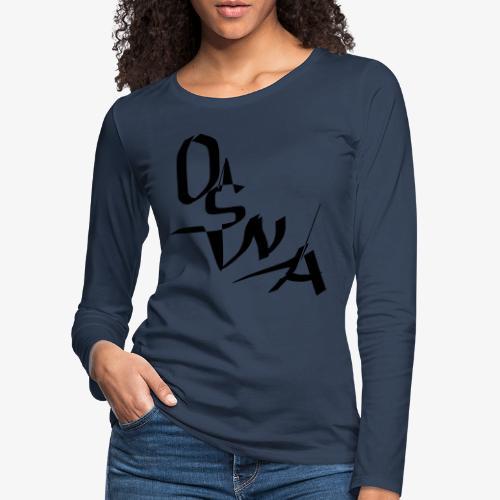 OSNA COMPANY - Koszulka damska Premium z długim rękawem