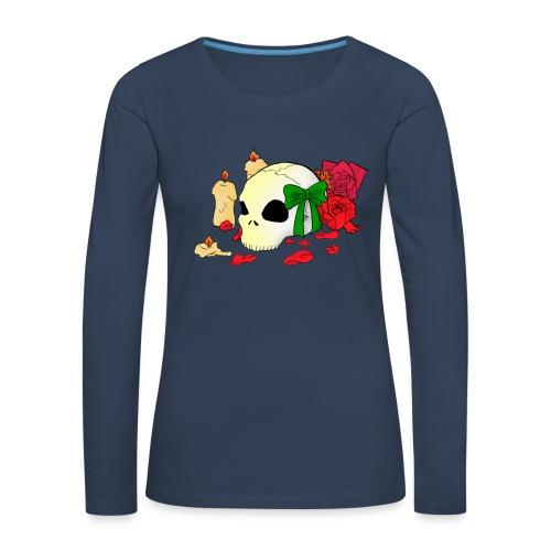 Skull and Roses - Frauen Premium Langarmshirt
