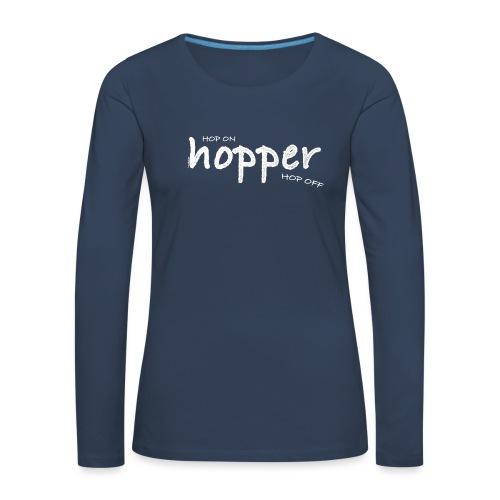 Hoppers Hop On and Off (white) - Camiseta de manga larga premium mujer