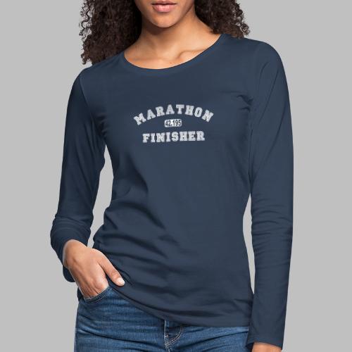 Marathon 42.195km Finisher Geschenkidee - Frauen Premium Langarmshirt