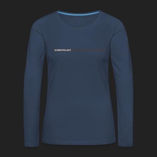 Saberproject Streifen - Frauen Premium Langarmshirt