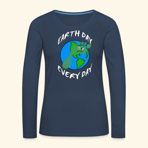 Earth Day Every Day - Frauen Premium Langarmshirt