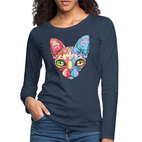 EgyptianCat - Frauen Premium Langarmshirt