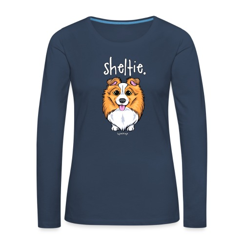 Sheltie Dog Cute 5 - Women's Premium Longsleeve Shirt