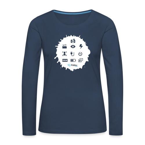 Logotipos Fotografía - Camiseta de manga larga premium mujer