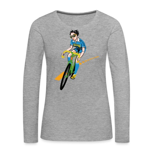 The Bicycle Girl - Frauen Premium Langarmshirt